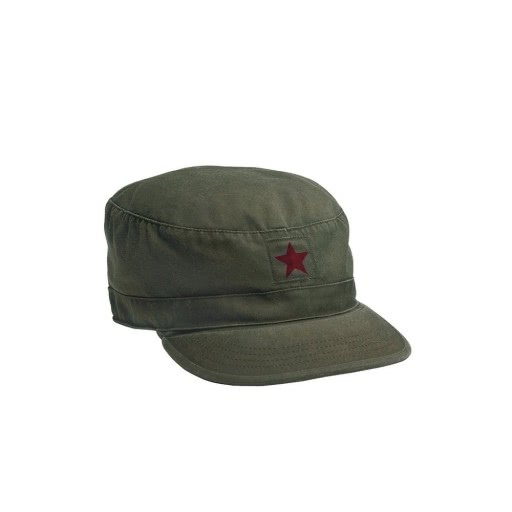 Casquette vintage Rothco BDU Olive Red star