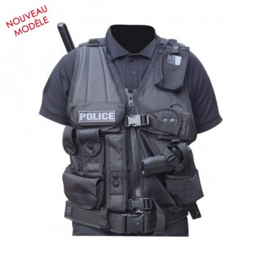 Gilet tactique force d'intervention