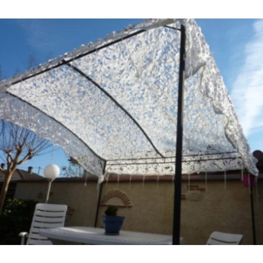 Filet de camouflage renforcé Blanc 4.50m x 10m Fabrication 2018 - STX