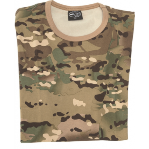 TEE SHIRT coton camouflage Multicam