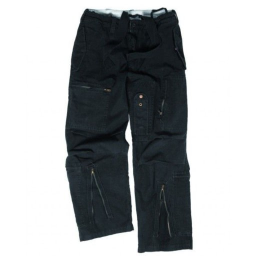 Pantalon pilote multipoches Us Army noir repro