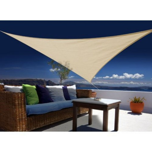 Voile d'ombrage triangulaire (3.6m x 3.6m)