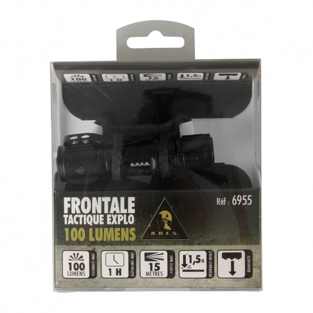 le frontale tactique explo 100 lumens stock us