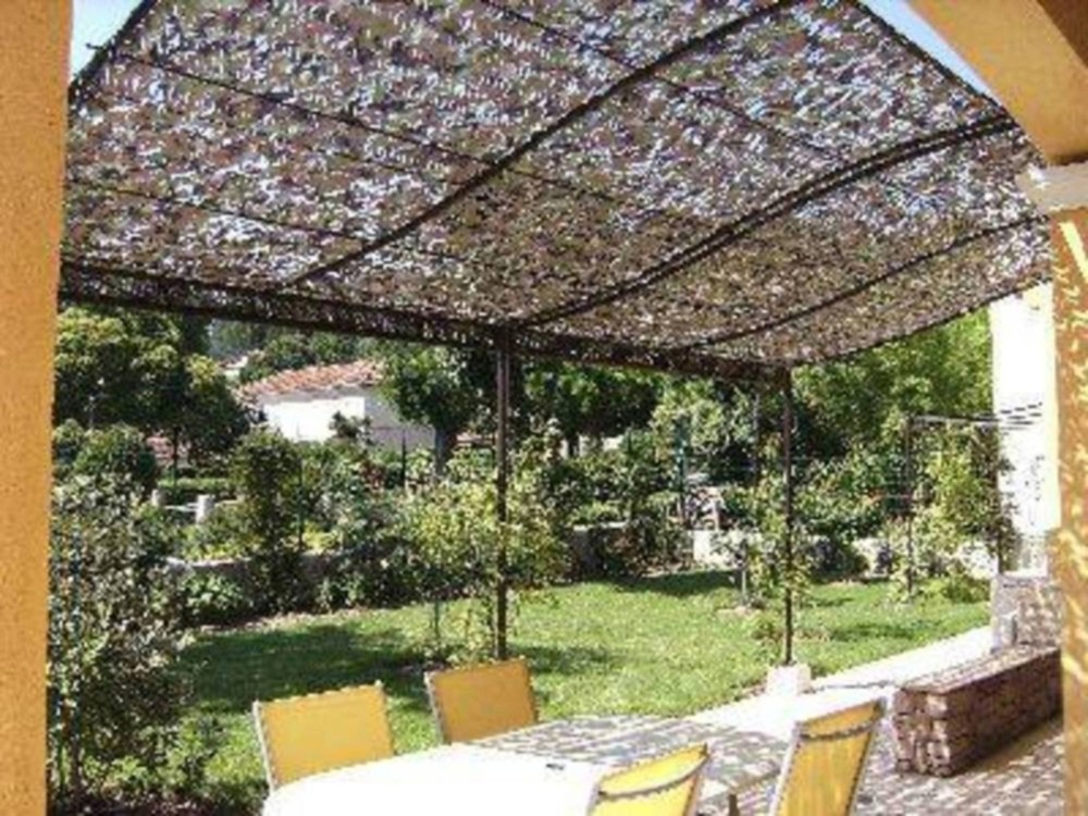 Filet camouflage militaire renforc blanc 6 x 3m camosystems anti uv stock us - Deco pergola ...