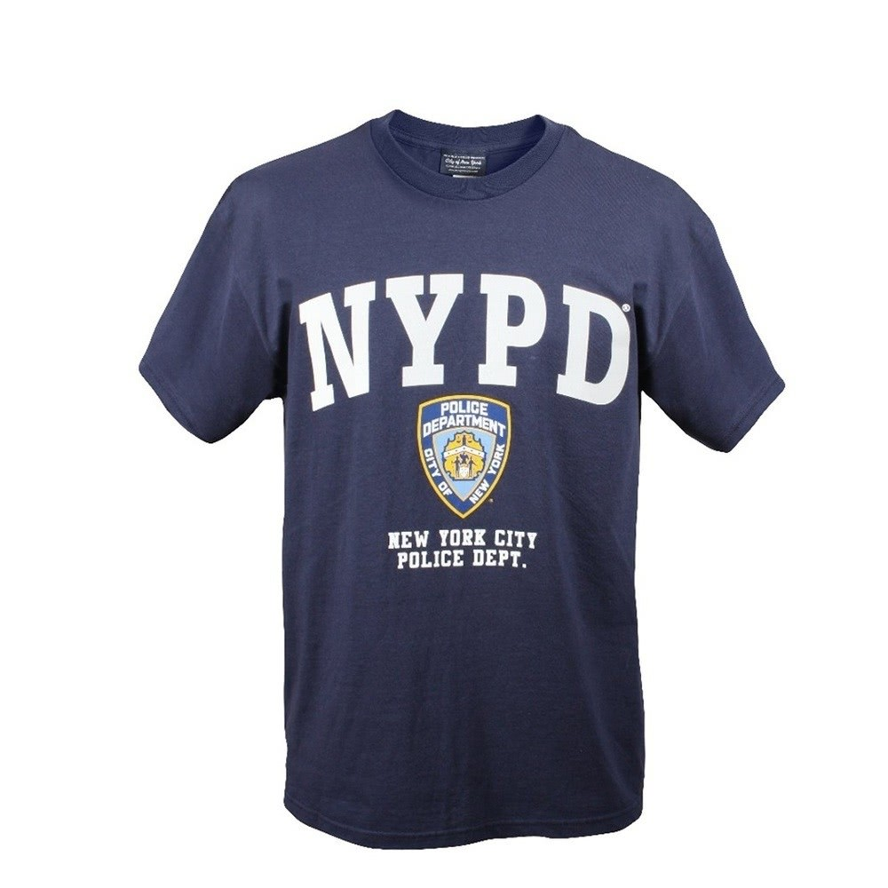 Us Nypd Marine Stock Tee Officielle Licence Bleu Sous Shirt Aww5q8B
