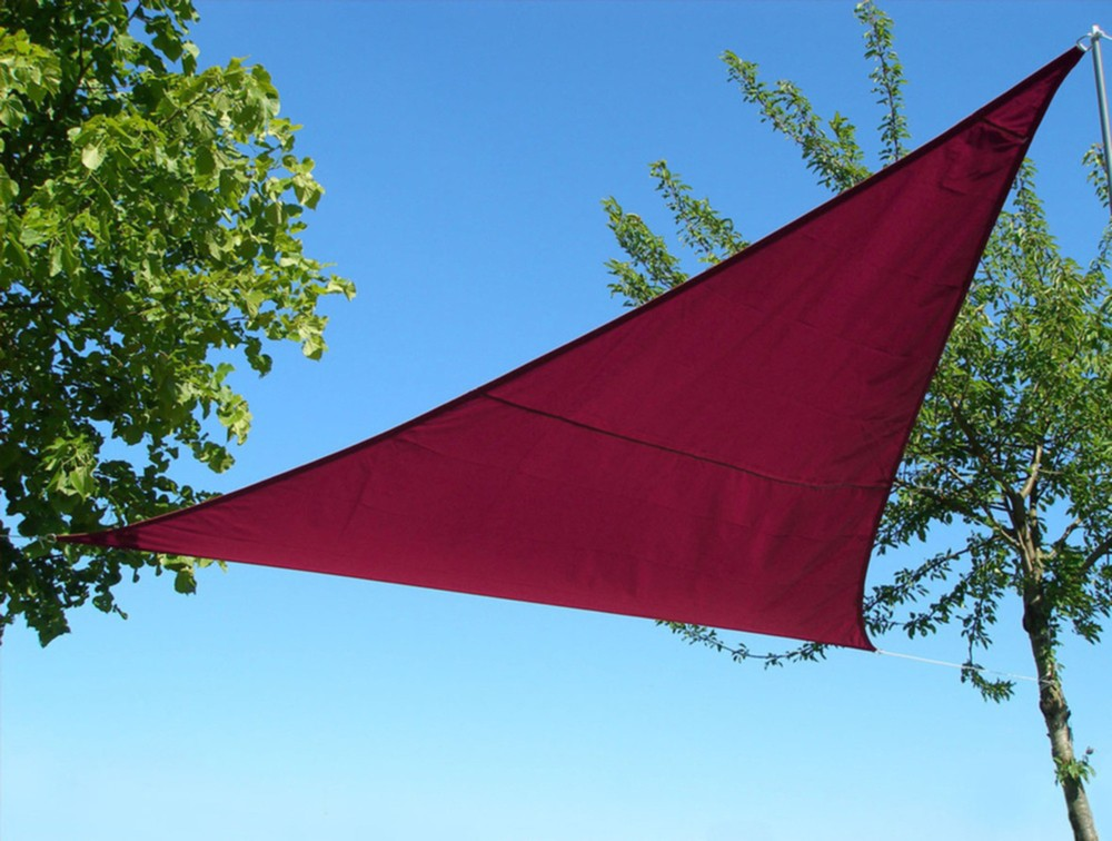 Voile d\'ombrage triangulaire rouille (3.6m x 3.6m) - Stock US