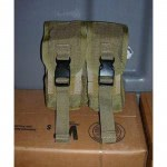 USMC PORTE CHARGEURS 5.56 2+2 MAGS MOLLE COYOTE