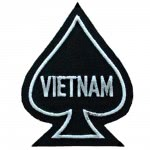 Patch US - As de pique Vietnam- Noir