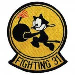PATCH / ECUSSON - U.S. NAVY,FIGHTING,031 - chat noir