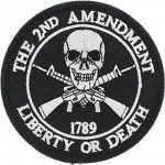 "PATCH Tété de mort "" 2ND AMENDMENT """