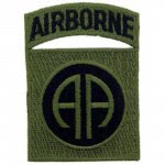 PATCH US ARMY 82ND AIRBORNE Kaki