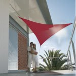 Voile d'ombrage triangulaire rouille (3.6m x 3.6m)