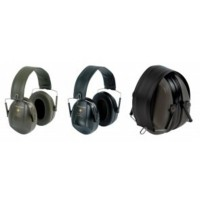 Casque anti-bruit bull's eye noir ou kaki