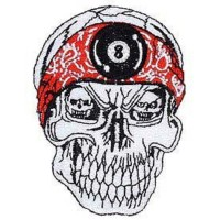 PATCH / ECUSSON SKULL RED BAND tête de mort