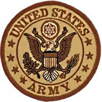 Patch United States Army sable