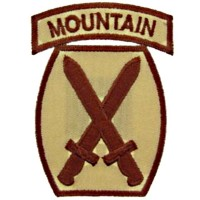 Patch US- 10ème division- Mountain-Tan