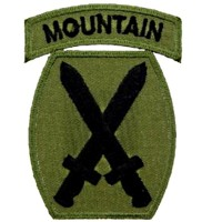 Patch US- 10ème division- Mountain-OD