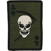 Patch US - Carte as de pique/tête de mort - OD