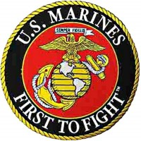 Patch US Marines First to fight - 25 cm