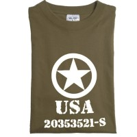 Tee shirt  USA  army  - Kaki
