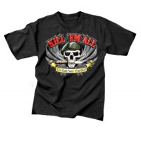Tee shirt mercenaire kill'em all -  Vert