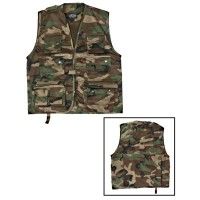 Gilet militaire reporter camouflage