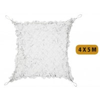 Filet de camouflage 80% de protection 4x5 m - Blanc