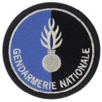 Ecusson brodé Gendarmerie Nationale