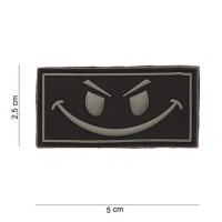 Patch SMILEY en Gomme 3D black