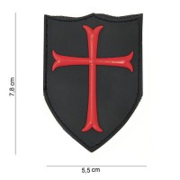 "PATCH 3D PVC "" CRUSADER "" velcro"
