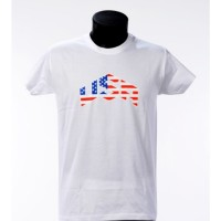 Tee shirt USA - Blanc- Bartavel