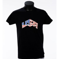 Tee shirt USA - Noir- Bartavel