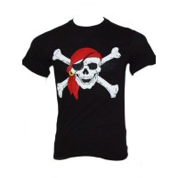 Tee shirt pirate noir surplus militaire