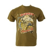 Tee shirt marines bulldog