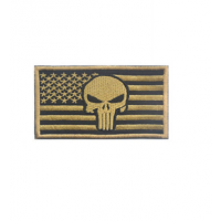Patch punisher USA flagTan