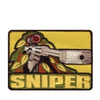 PATCH / ECUSSON velcro rectangulaire Sniper 3 (9 cm X 3 cm )