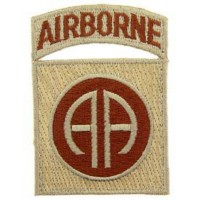 Patch US Airbone 82nd division- Tan