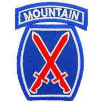Patch US- 10ème division- Mountain