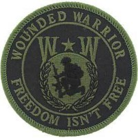 "PATCH ""WOUNDED WARRIOR"" Kaki"