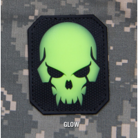 Patch PVC SKULL Velcro