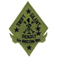 PATCH / ECUSSON - USMC 1ST RECON BN