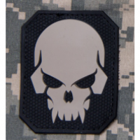 Patch MSM PVC SKULL - Grey
