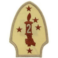 PATCH / ECUSSON - U.S. MARINES , 2nd DIVISION