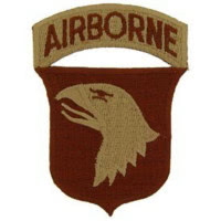 PATCH / ECUSSON - U.S. ARMY,101ST AIRBORNE aigle
