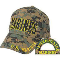 "Casquette brodée ""Marines US "" Digital Woodland"
