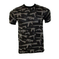 Tee shirt multi print guns
