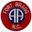 PATCH / ECUSSON - ARMY 082ND A/B fort bragg thermo collant