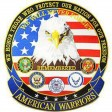 PATCH AMERICAN WARRIORS Eagle US Grand modèle